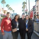 Renato Gonçalves, Alessandra Santos e Juliana Mesanelli, da Universal, com Jacqueline Miranda, da Copa Airlines