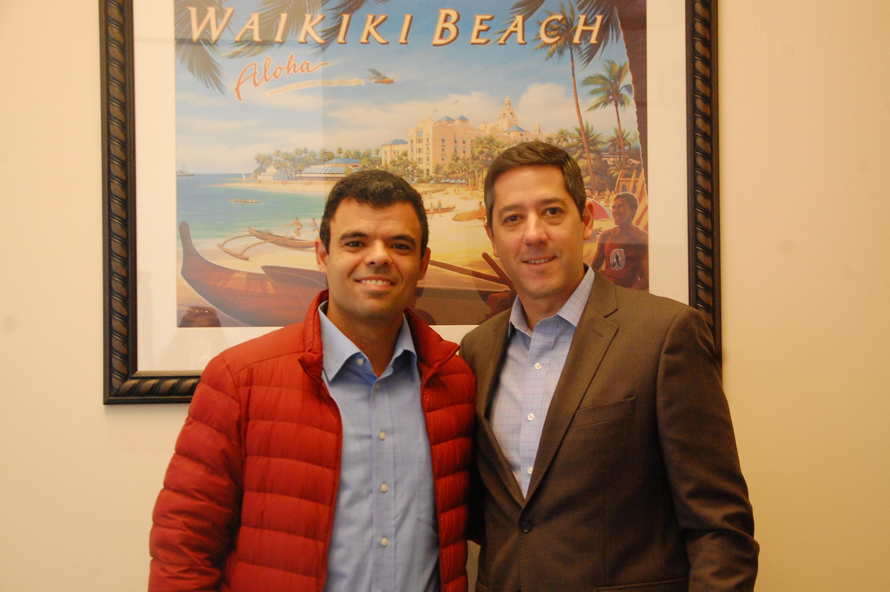 Renato Gonçalves e Marcos Barros, da Universal