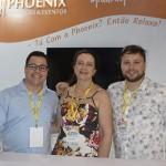 Ricardo Busgaib, Adriana Rodrigues e Artur Koch, da Phoenix Soluções e Eventos