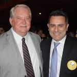 Roy Taylor, do M&E, e Gilmar Piolla, secretário de Turismo de Foz do Iguaçu