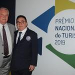 Roy Taylor, do M&E, e Manoel Linhares, da ABIH Nacional