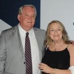 Roy Taylor, do M&E, e Marlene Novaes, da Ilhas Turísticas Brasileiras