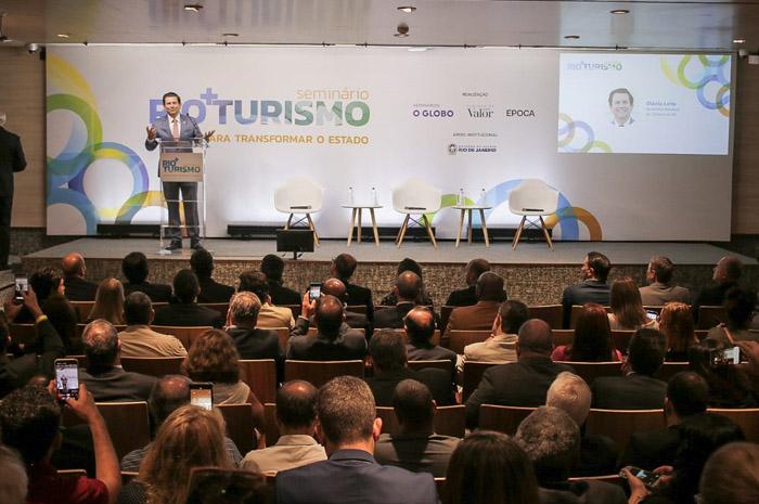 Secretário Otavio Leite durante a sua apresentação no Rio+Turismo foto Flávio Cabral