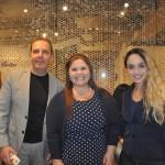 Sergio Uchida, da On Request, Tabatha Braga, da Place Tour Viagens e Aline Ramos, da Place Tour Viagens