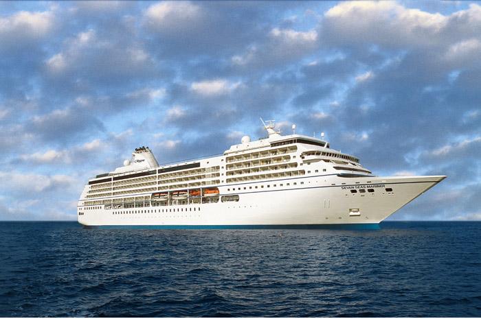 Seven Seas Mariner, um dos quatro transatlânticos da frota da Regent Seven Seas Cruises