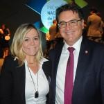 Vanessa Mendonça, secretária de Turismo do DF, e Vinicius Lummertz, secretário de Turismo de SP