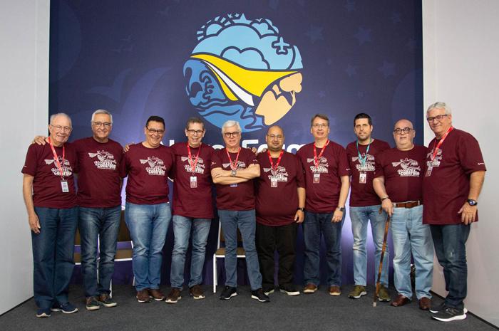 A diretoria do Grupo Ancoradouro durante a Convenção