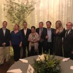 Diretoria da Abav-RJ ao lado do secretário de Turismo do RJ, Otavio Leite, e da subsecretária Adriana Homem de Carvalho