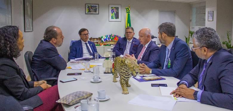 Representantes do governo federal, de entidades privadas e do parlamento brasileiro discutem, em primeira reunião, como será a composição do GT que vai tratar do setor aéreo do Brasil. Foto: João Alexandre/Embratur