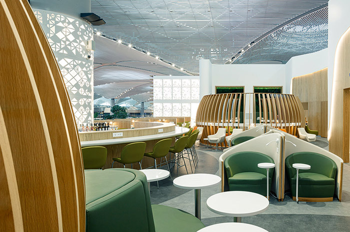 SkyTeam Lounge no Aeroporto de Istambul