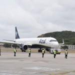 A321 se preparando para a decolagem rumo à Viracopos, em Campinas