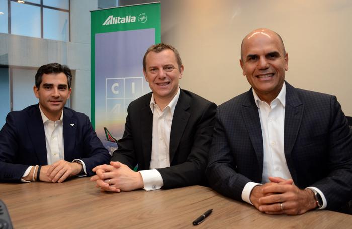 Anúncio foi feito durante uma coletiva de imprensa em São Paulo, que contou com a presença de autoridades da companhia aérea italiana