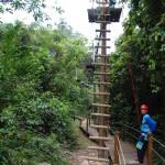 Arborismo com extensão de 190 metros
