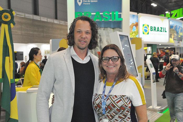 Bruni Reis, presidente da Emprotur (RN), com Ruth Avelino, presidente da PBTur