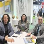Bruno Reis e Nayara Santana, da Emprotur (RN), em reunião com Gérman Hijón, da Tui