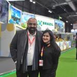 Carlos Santos, da ExpoMundo, e Renata Mendes, da Secretaria de Turismo do Ceará