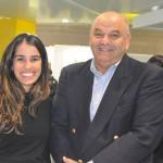 Christye Ferreira, do Holiday Inn Maceió, com Paulo Kugelmas, superintendente de Turismo de Alagoas