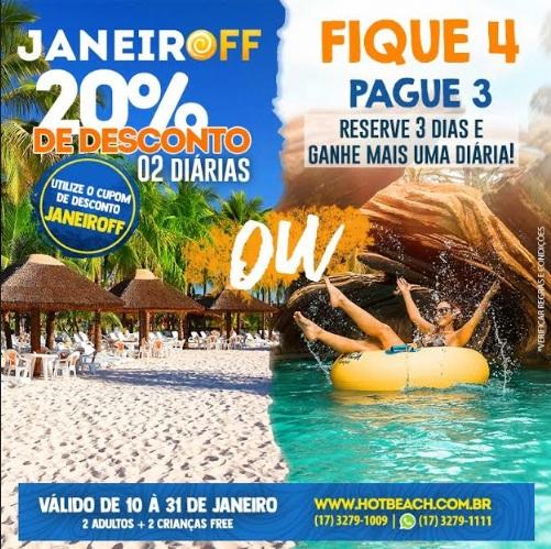 Complexo Hot Beach faz promoção para férias de janeiro