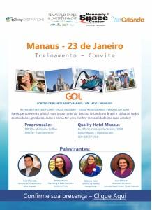 O evento sorteará uma passagem aérea de ida e volta no voo direto da Gol entre Manaus-Orlando