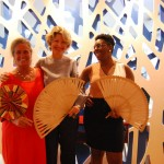 Mari Masgrau, do M&E; Caroline Putnoki e Bea Alves, da Atout France Brasil.