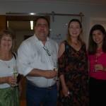 Esther Bourqui, da Senator; Guilherme Campos, da Flot Viagens; Cristiane Vento, da Rail Europe; e Fernanda Sarubbi, da CapAmazon