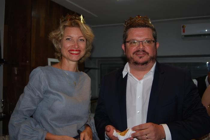 Caroline Putnoki, diretora da Atout France, e Brieuc Pont , cônsul francês em São Paulo, foram os reis da noite