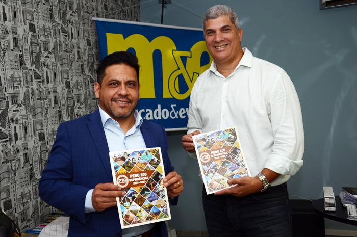 Elson Espinoza, CEO da PTA e Luis Borges, da North America na sede da M&E