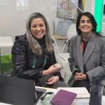 Danyelle Zagoto, da Tourmed, com Claudia Dezan, da CDZ