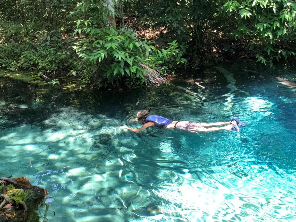 Flutuação no Rio Salobra