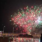 Fogos celebraram a inauguração do Centro de Convenções de Salvador