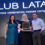 Gabriela Mundim e Igor Miranda, da Latam, com Dalva Camargo, da Flytour Business Travel