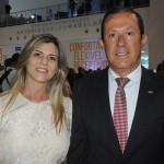 Glicerio Ramos, ex-presidente da ABIH BA, com sua esposa Eliana Calazans
