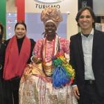 Jacqueline Pires, Regina Ahmed, a baiana Marly Trindade, e Marcos Froes, da Secretaria de Turismo da Bahia