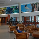 Lobby na recepção