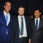 Ludovic Moullin, diretor do Centro de Convenções, com Antonio Barretto e Claudio Tinoco, da Secult Salvador
