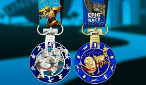 Universal revela medalhas da Running Universal's Epic Characters Race