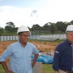 Paulo Vinicius Capistrano, engenheiro responsável pela obra e Ricardo Gouveia, diretor comercial