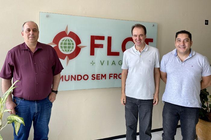 Pedro Moreira, gerente geral da Flot; Eduardo Barbosa, presidente da Flot; e Dagoberto Pires Nunes, diretor da DS Serviços de Assessoria