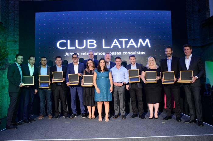 A noite premiou os parceiros com melhor desempenho do Club Latam