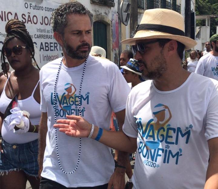 Secretário Fausto Franco no cortejo da Lavagem do Bonfim_Foto Ascom Setur