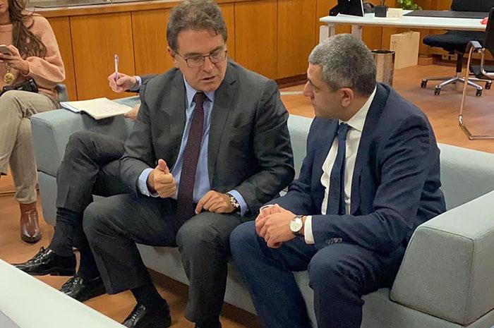 Vinicius Lummertz se reuniu com Zurab Pololikashvili na última segunda (20)