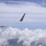 Vista da janela no assento 35F, penultima fileira do avião