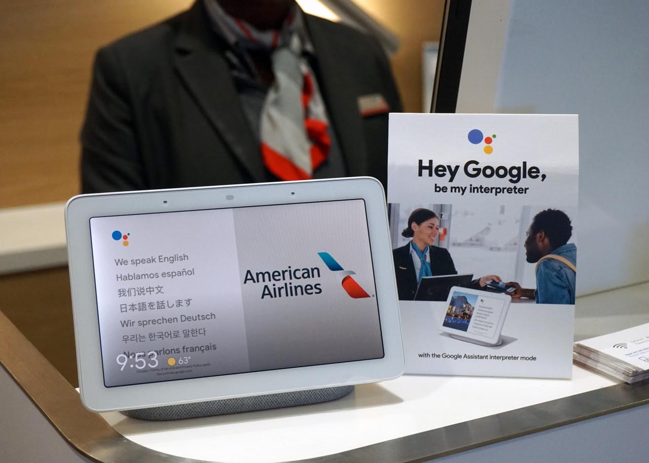 American Airlines é a primeira aérea a utilizar o Google Assistante como intérprete