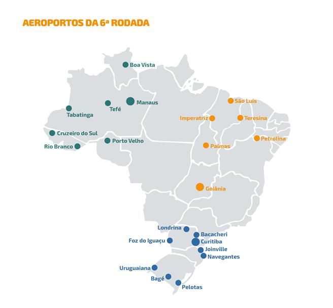 Aeroportos da 6ª rodada de concessões