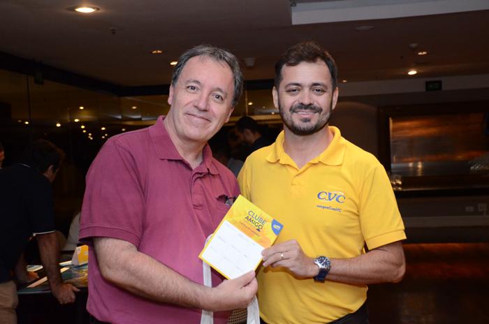 Algacir Sanches, da TS Tour, e Paulo Oliveira, da CVC