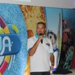 Bernardo Amorin, da Pratagy Beach, apresentando o novo parque aquático