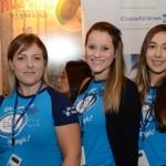 Bruna Lopes, Nathalia Ortega, e Pamela Mejias, da Magic Blue Turismo