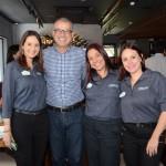 Daniela Bergamini, Cristiana Muniz e Karen Amorim, do SeaWorld, e Ricardo Campos, da Trade Tours