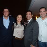 Dante Campos, da Braztoa, Catarina Galvis, da Procolombia, Roberto Silva e Amarildo Limah, da Sanchat