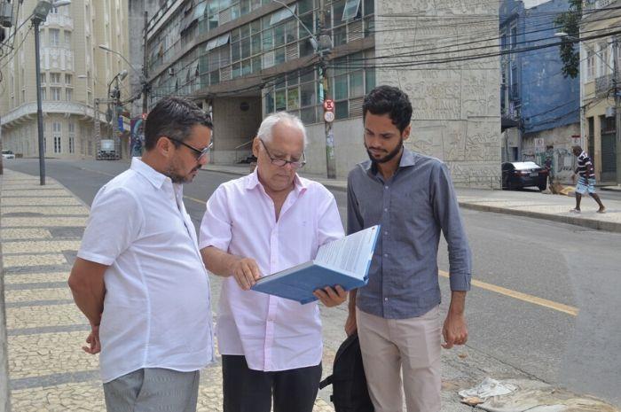 A visita técnica aconteceu com a presença do secretário Fausto Franco,  junto com o engenheiro Floro Freire e o historiador Rafael Dantas